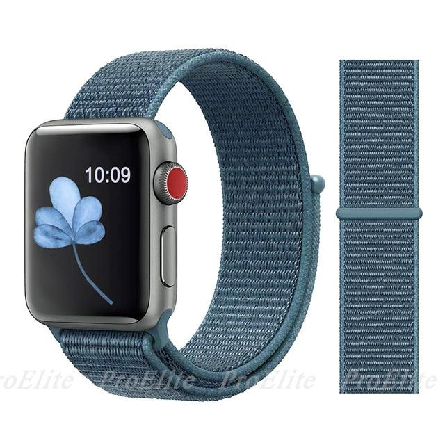 Apple Watch Nike Breathable Replacement Strap Watchband Stand Color31 Dark blue For 38MM and 40MM