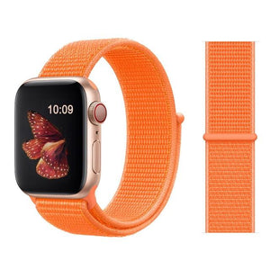 Apple Watch Nike Breathable Replacement Strap Watchband Stand Color35 Papaya For 38MM and 40MM