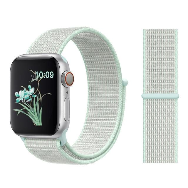 Apple Watch Nike Breathable Replacement Strap Watchband Stand Color37 TEAL TINT For 38MM and 40MM