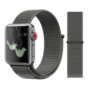 Apple Watch Nike Breathable Replacement Strap Watchband Stand Color38 Spruce Fog For 38MM and 40MM
