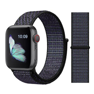 Apple Watch Nike Breathable Replacement Strap Watchband Stand Color39 Hyper Grape For 38MM and 40MM