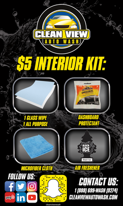 Clean View Auto Wash Interior Cleaning Kit