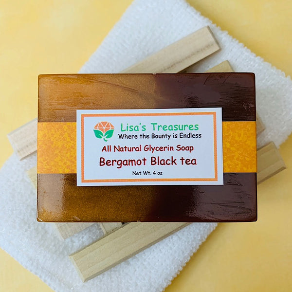 Lisa's Treasures Bergamot Black Tea Soap