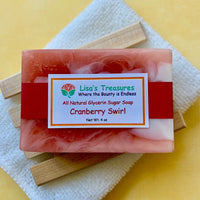 Lisa's Treasures Cranberry Swirl Soap