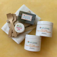 Lisa's Treasures Four Piece Set with Green Zeolite Clay Soap