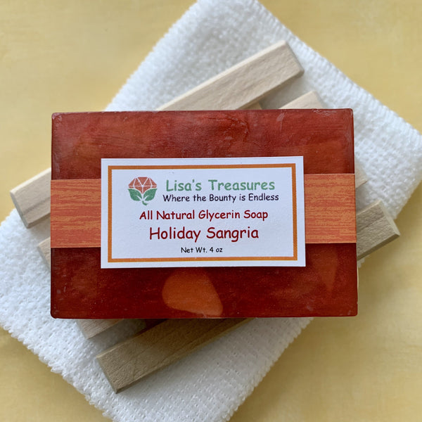 Lisa's Treasures Holiday Sangria Soap