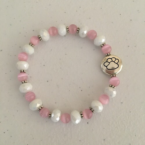Lisa's Treasures Rose Quartz Paw Bracelet