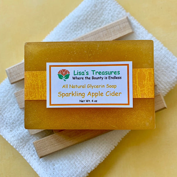Lisa's Treasures Sparkling Apple Cider Soap