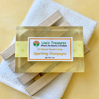 Lisa's Treasures Sparkling Champagne Soap