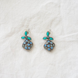 Eclectically Teal Dangle Earrings