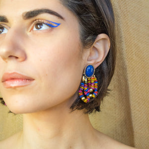 Colorful Chip Earrings