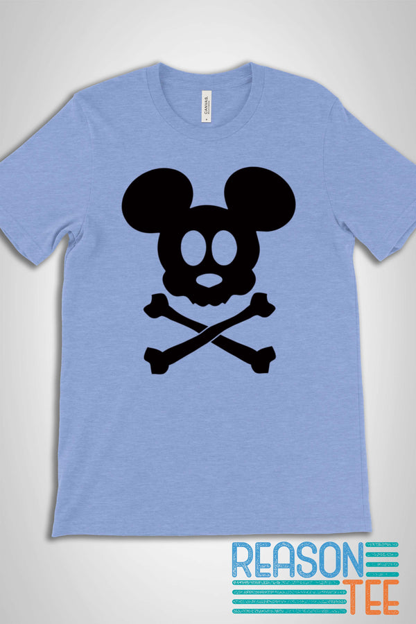 Mickey Skull and Crossbones T-shirt