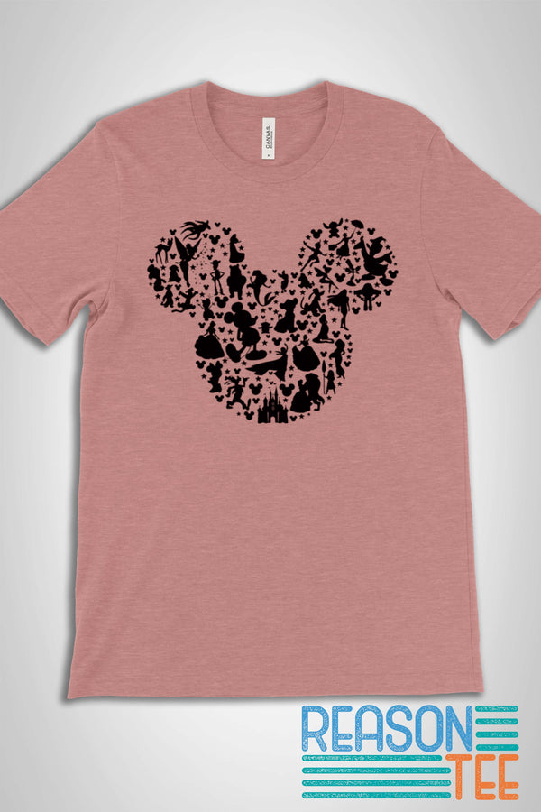 Mickey Ears Character Silhouette T-shirt