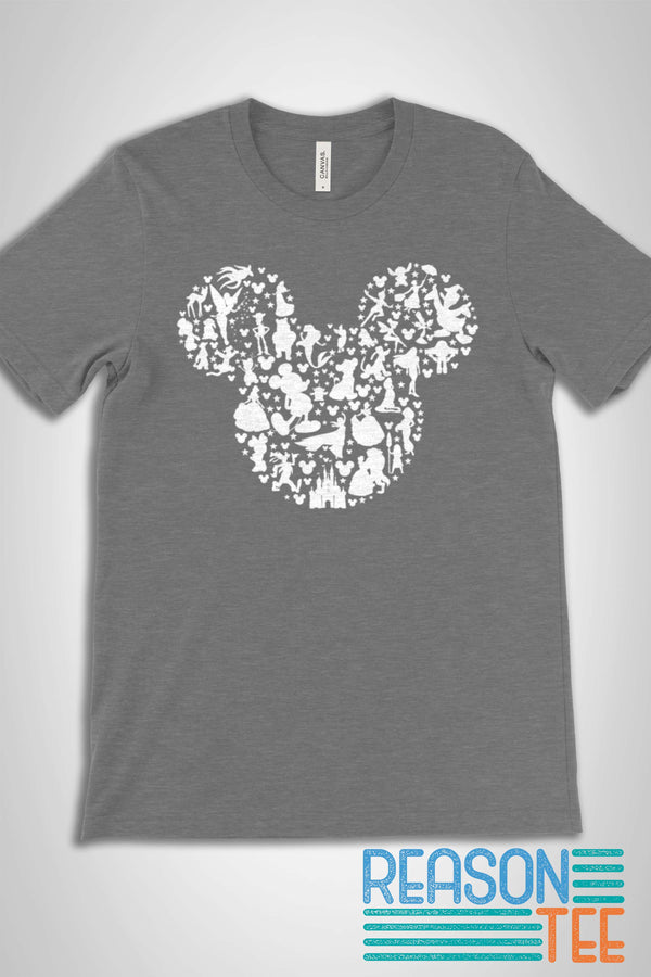 Mickey Ears Character Silhouette T-shirt 2
