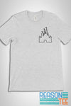 Disneyland Castle Pocket Print T-shirt