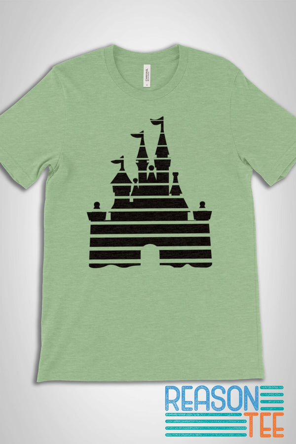 Disneyland Castle Stripes T-shirt