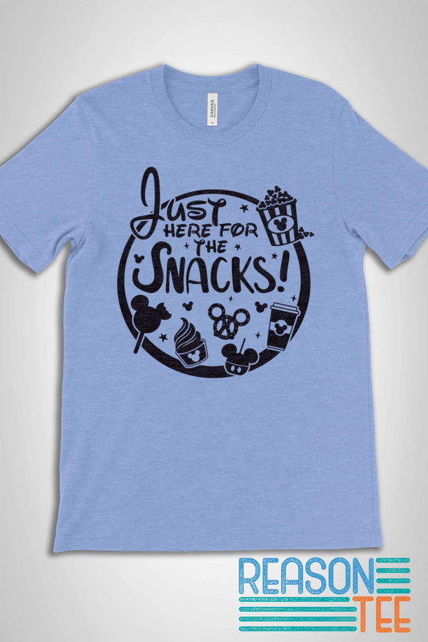 Just Here For The Snacks T-shirt