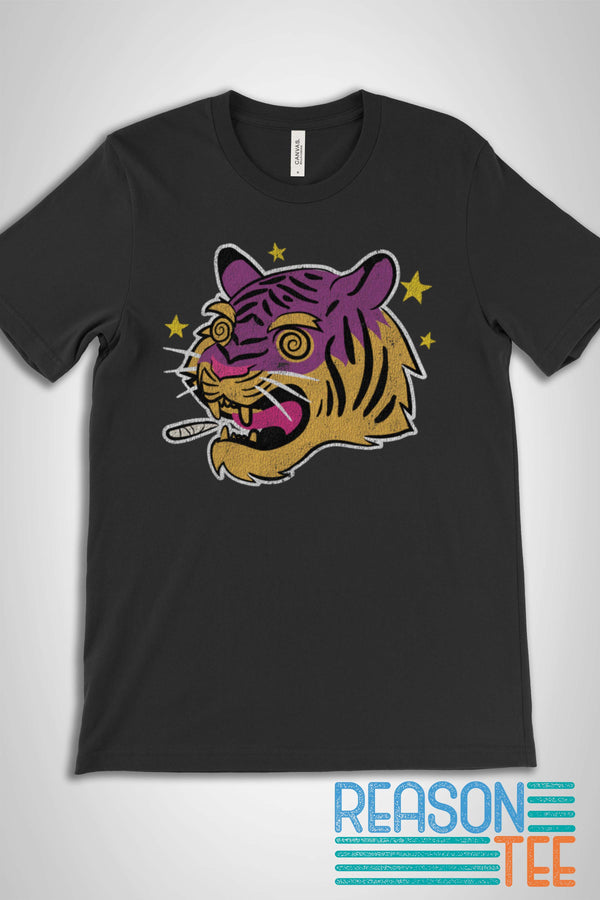 Smoking Tiger 420 Stoner T-shirt