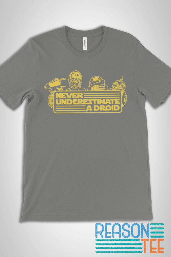 Never Underestimate A Droid T-shirt