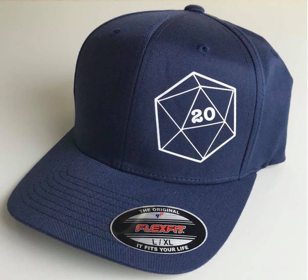 D20 Flexfit Hat - Critical Hit Die Dice Baseball Cap