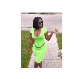 Summer Lime Fine Dress