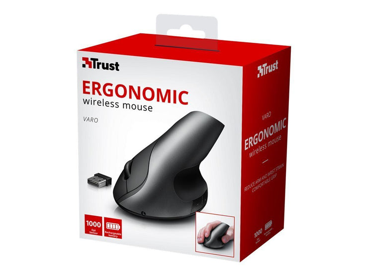 Trust Varo Wireless Ergonomic Mouse Vertikalmus Trust