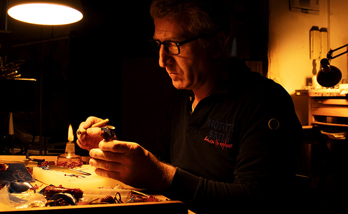 Giuseppe Mandile Italian Craftsman Making Jewellery