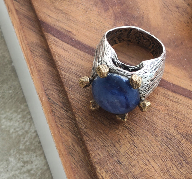 Lapis Lazuli Gemstone Ring Made in Italy