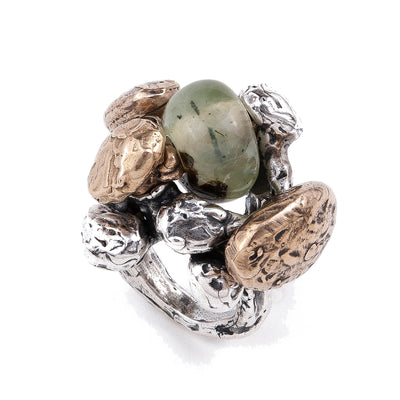 POLLA, Green Prehnite Ring