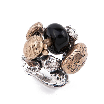 POLLA, Black Onyx Ring