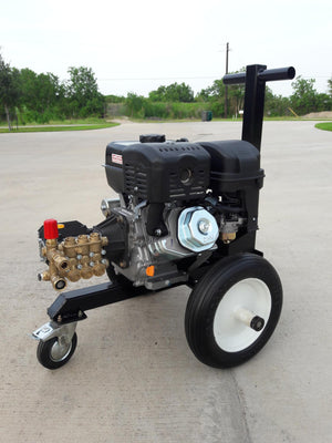 Gas powered cold water pressure washer