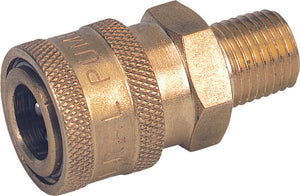 "Brass 3/8"" x 1/2"" GP Coupler MPT"