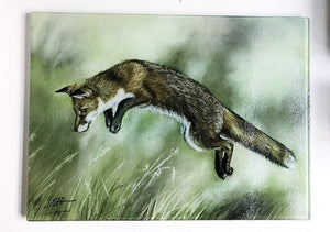 Leaping Fox Glass Worktop Saver