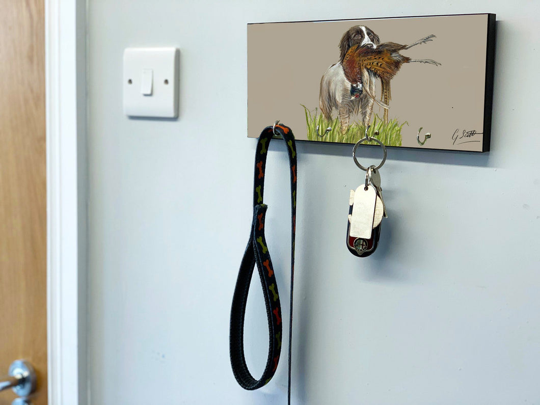 Spaniel With Pheasant Key Holder (2)