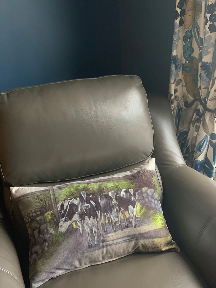 Friesian Cows Oblong Cushion