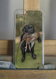 Black Labrador With Pheasant Hunting Themed Phone Case Phone Case