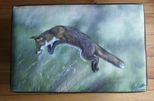 Leaping Fox Footstool