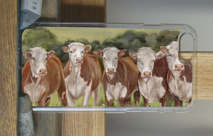 Row Of Herefords Phone Case