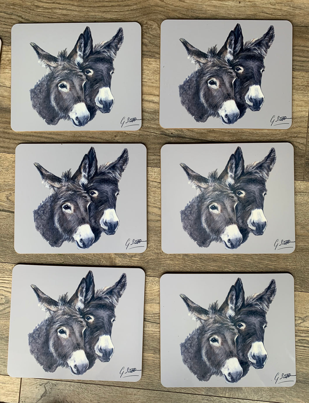 SECONDS Set Of Six Donkey Placemats