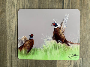 SECOND Pheasants Fighting Placemat