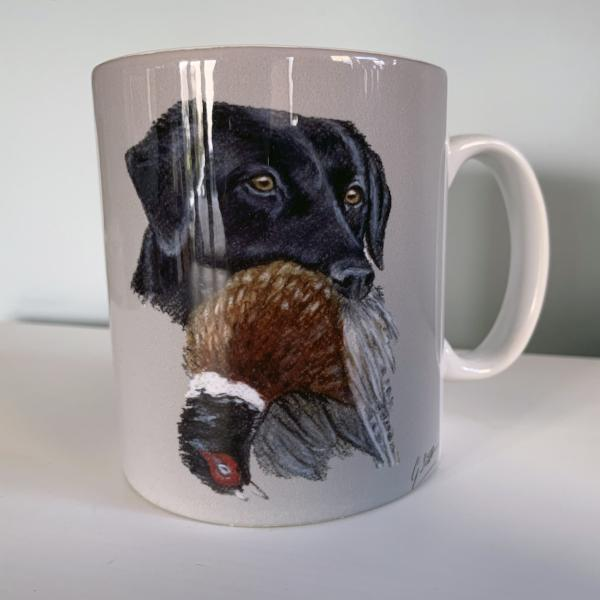 Black Labrador Hunting Themed Mug