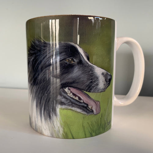 Collies Head Farming Themed Mug