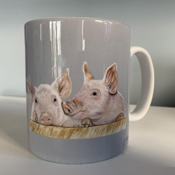 Piglets Farming Themed Mug