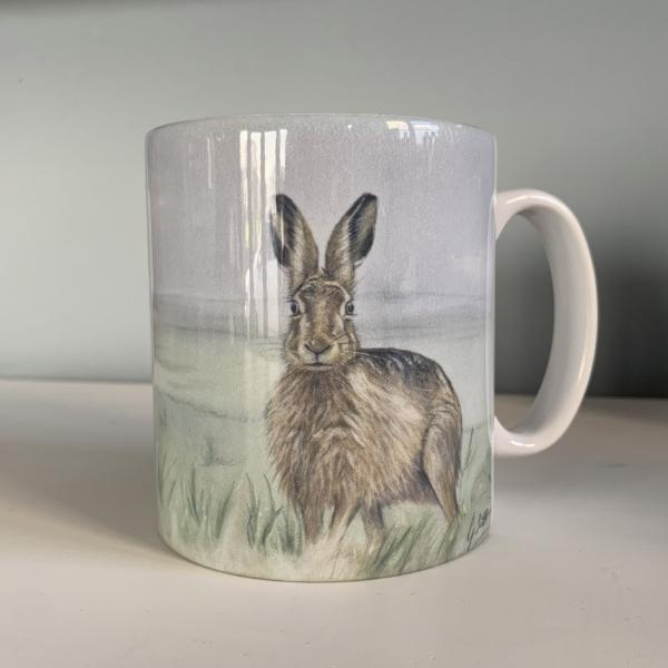 Hare With Sky Background Mug