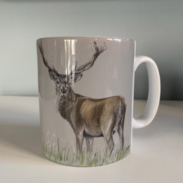 Stag Through Grass Mug