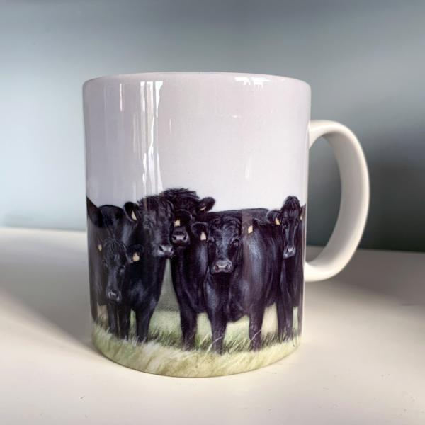 Herd Of Aberdeen Angus Farming Themed Mug