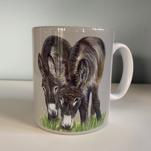 Donkeys Grazing Mug