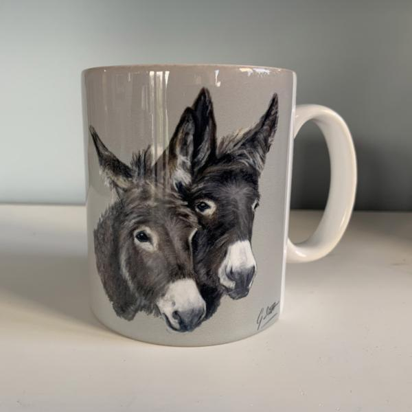 Two Donkeys Mug