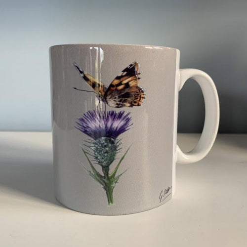 Butterfly On Thistle Mug