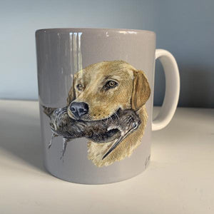 Golden Labrador Hunting Themed Mug